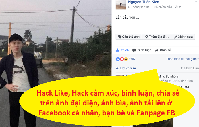 Tăng Like ảnh Facebook, tăng like ảnh đại diện, hack  Like avatar, hack like cover photo